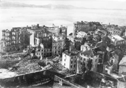 The port city of Zadar in Croatia after many bombings during the war.