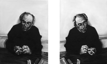 Artistic depiction of philosopher Jean Baudrillard.