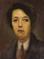 Restored -- Portret žene s kravatom (Portrait of Woman with Tie), 1907.