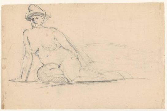 sjedeći ženski akt - 1905