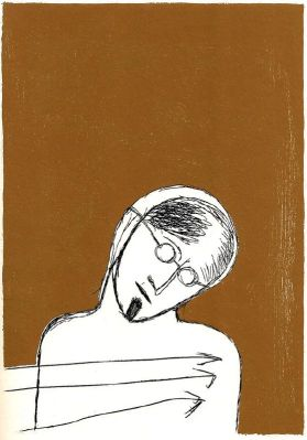 From the illustration copy of Ulysses drawn by Italian artist Mimmo Paladino.
